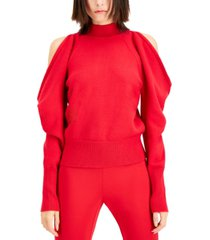 inc plus size cold-shoulder bow-back sweater, created for macy's