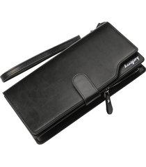 billetera larga para hombres baellerry kj2 cartera-negro