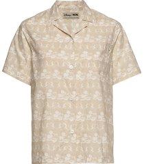 johanne shirt overhemd met korte mouwen beige wood wood
