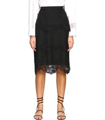 ermanno scervino skirt ermanno scervino pencil skirt in lace with flounces