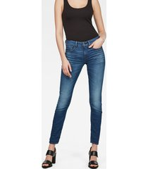 3301 deconstructed mid waist skinny jeans