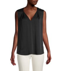 kobi halperin women's sleeveless stretch-silk blouse - black - size xs