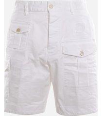 multi-pocket cargo shorts in cotton blend