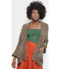 casaco tricô farm veludo feminino