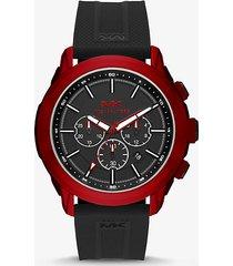 mk orologio kyle oversize rosso con cinturino in silicone  - rosso (rosso) - michael kors