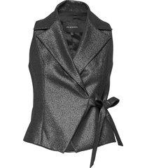 regina 3v top blouse mouwloos grijs andiata