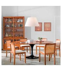 mesa jantar oval saarinen madeira 120x80x75