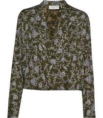 blouse ls blouse lange mouwen groen rosemunde