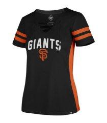 '47 brand women's san francisco giants turnover v-neck t-shirt