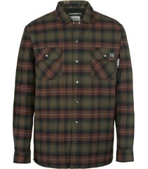 wolverine men's fr plaid jacket oxblood plaid, size xxl