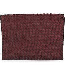 naghedi women's medium salina pouch - plum