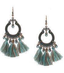 orecchini nappa cerchio vintage bohemian geometric drop earrings gioielli regalo per le donne