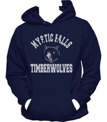 mystic falls timberwolves the vampire diaries hoodie s-3xl navy