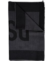 dsquared2 wool scarf with logo