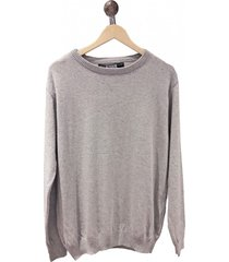 sweater gris redskin escote redondo