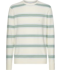calvin klein cotton boucle stripe sweater wit