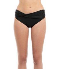 bikini calzón banda torcida negro samia