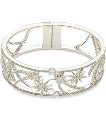 adriana orsini women's rhodium-plated & crystal bracelet