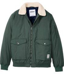 bomber con colletto in pellicciotto sintetico (verde) - john baner jeanswear