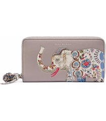 nwt tory burch elephant zip continental wallet