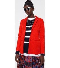 orange faux blazer - orange - xl