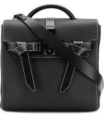 1017 alyx 9sm dual buckle top handle tote bag - black