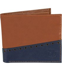 men's stacy adams bifold wallet with two-tone color
