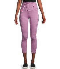 marika women's aura exposed seam leggings - valerian - size m