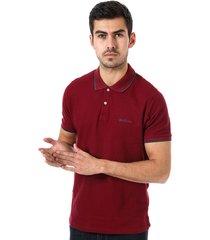 ben sherman mens tipped collar polo shirt size 3xl in purple