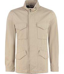 woolrich field multi-pocket cotton jacket