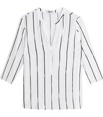 blusa manga 3/4 estampado a rayas