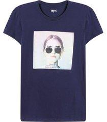 camiseta mujer lentes