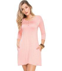 vestido corto para mujer palo de rosa mp 49881