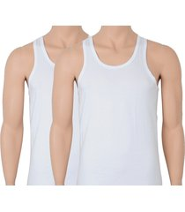calvin klein singlet - hemd 2-pak wit