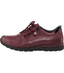 skor med snörning och dragkedja naturläufer bordeaux