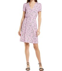 french connection river daisy meadow dress, size 8 in mauve mist multi at nordstrom