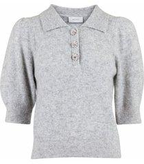 meta gebreide blouse