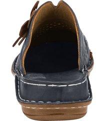 clogs gemini marinblå::brun