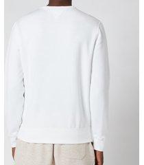 polo ralph lauren men's fleece sweatshirt - white - xxl