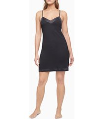 calvin klein satin-trim chemise nightgown