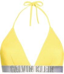 calvin klein bikinitop intense power geel-xs