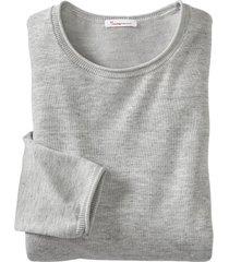 lichte gebreide pullover met tencel™, grijs gemêleerd xxxl