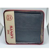 levis hombres capacidad slimfold cartera billetera cuero negro