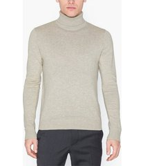 jack & jones jjeemil knit roll neck noos tröjor ljus grå