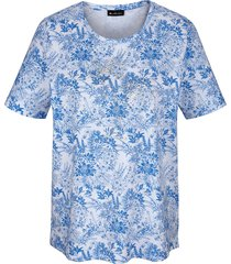 shirt m. collection blauw::wit