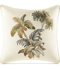 """tommy bahama home nador embroidered 16"""" square decorative pillow"""