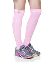 meias performance mulher elastica polaina fitness pesinho rib i15 - rosa neon - u rosa