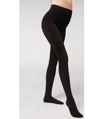 calzedonia maternity tights with cashmere woman black size 1/2