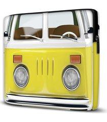capa para notebook kombi yellow 15 polegadas - amarelo - dafiti