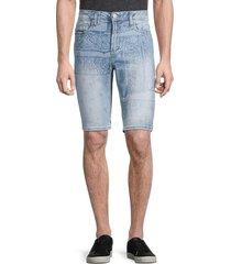 buffalo david bitton men's parker slim-fit paisley denim shorts - indigo - size 38